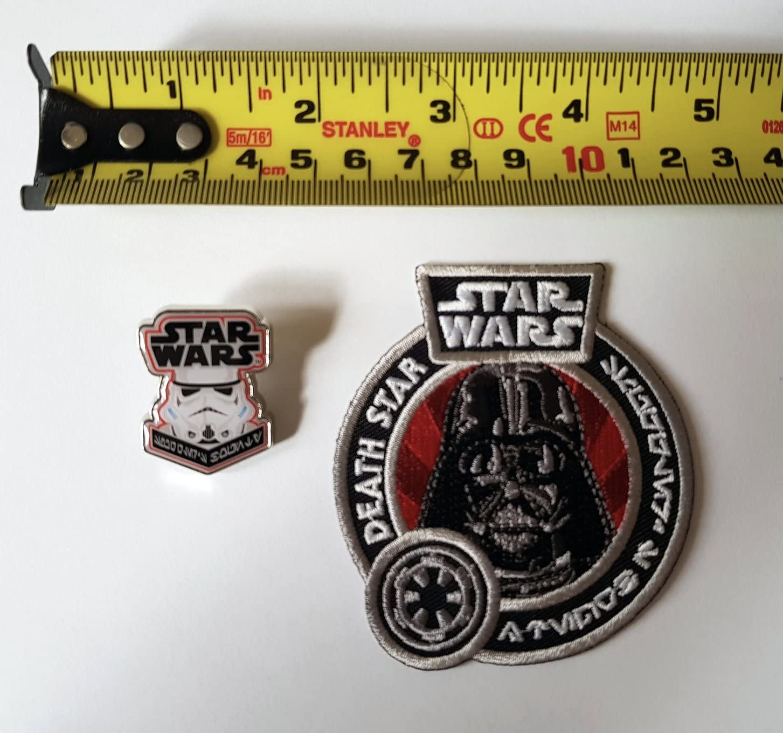 Funko Pop Star Wars Smugglers Bounty Stormtrooper Pin Badge /& Darth Vader Patch