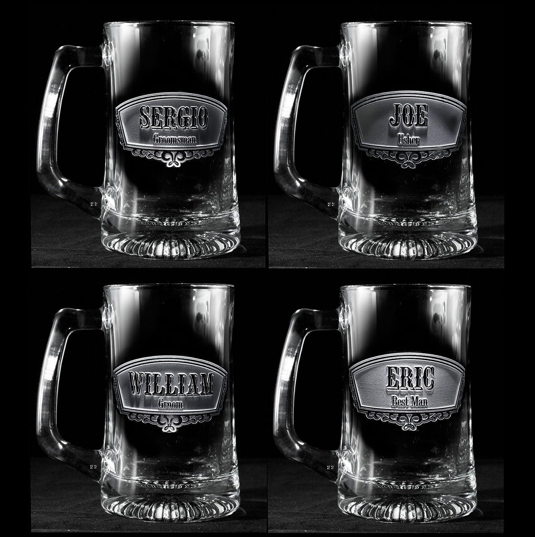 Amazon Groomsmen Gift Ideas Best Man Beer Mugs Set Of 7 Handmade