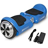 """SURFUS HR JUNIOR 4.5"""" UL 2272 Certified Hoverboard with Matte Waterproof Self-Balancing Scooter with LED lights, Black/White/Blue/Red"""