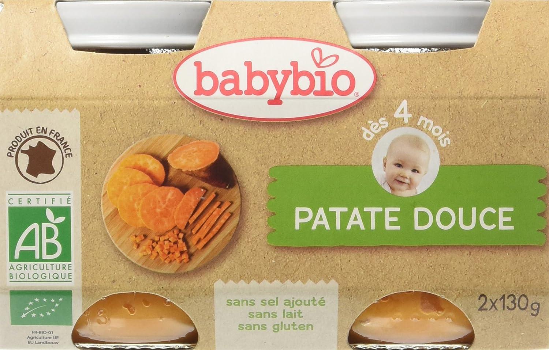 Babybio Pots Patate Douce 260 g - Lot de 6 51049 alimentation bébé diversification
