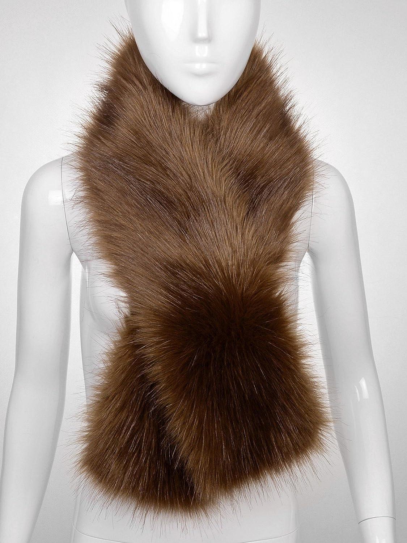 Futrzane Winter Straight Scarf Wrap Faux Fake Fur Collar Shawl Shrug Hario V60 Stailess Drip Scale Vstm 2000hsv Fluffy Collors Rusty