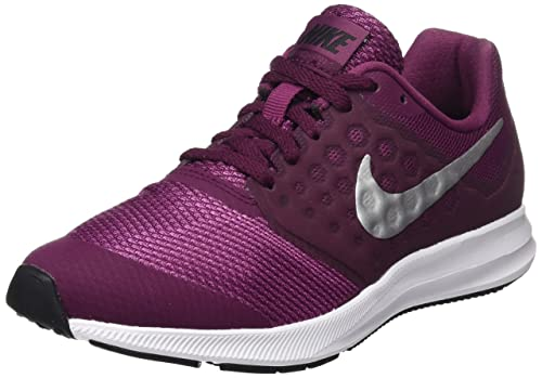 sports shoes a36f7 f1755 Nike Downshifter 7 (GS) Scarpe da Fitness Bambina, Multicolore  (Bordeaux/Metallic