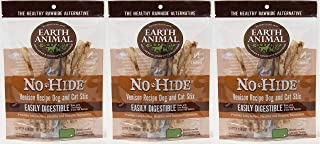 product image for Earth Animal No Hide Rawhide Venison Sticks Dog Chew Treat 10 Count Stix Bag (Venison, 3 Bags) The Safe Alternative to Rawhide!