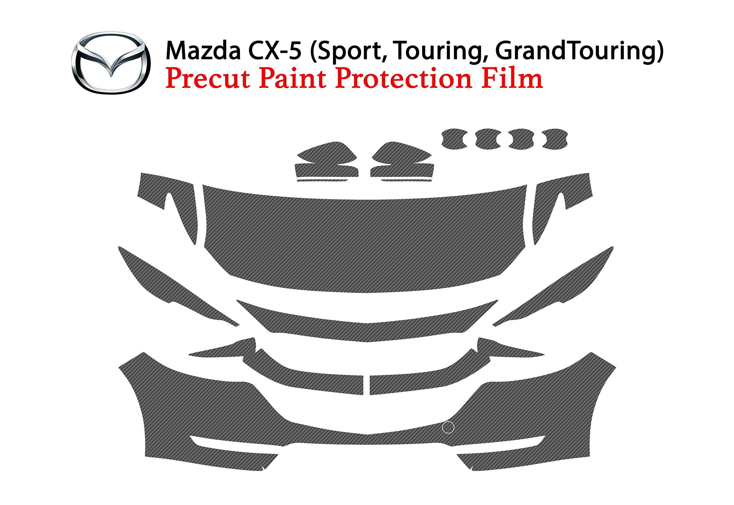 The Online Liquidator Clear Bra Paint Protection Film Kit fits Mazda CX-5 2017-2018 - Car Vinyl Wrap Shield Cover