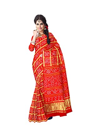 81bd64419fba5 Kala Sanskruti Bandhani Gaji Silk Saree For Women Traditional Designer  Latest Bandhej Design. (KSA7X