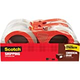 Scotch Commercial Grade Packaging Tape, 1.88 in. x 54.6 yd., Clear, 4 Rolls/Pack