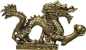 qiaoya Feng Shui Dragon Luck & Success/feng Shui Resin Dragon Statue Sculpture