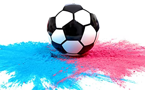 Gender Reveal Sports Co. Pelota de fútbol con Polvo para ...
