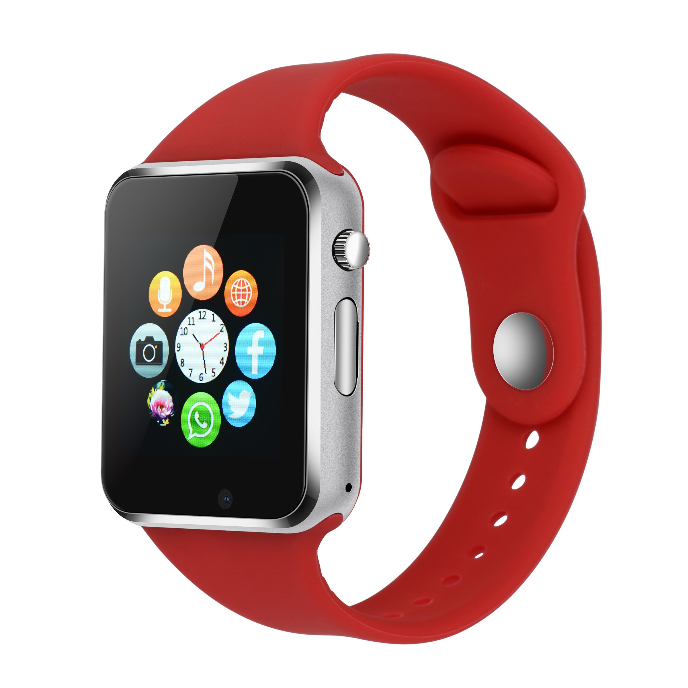 SUNETLINK Smart Watch for Android iPhone, Touch Screen Bluetooth Cell Phone Watch with Camera,SIM Card Slot/Pedometer Analy/Sleep Monitoring for Android and IOS Men Women Kids Girls