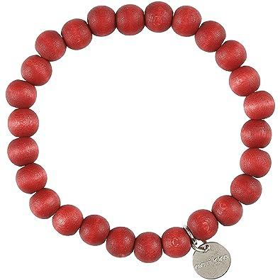 Aarikka ARIEL Armband aus Holzperlen, rot erdbeer