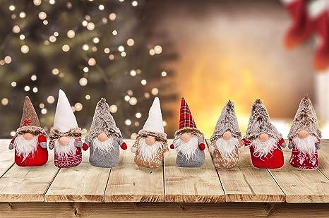 Decorazioni Per Casa Natalizie : Set da 4 oppure 8 simpatici folletti di natale. decorazione