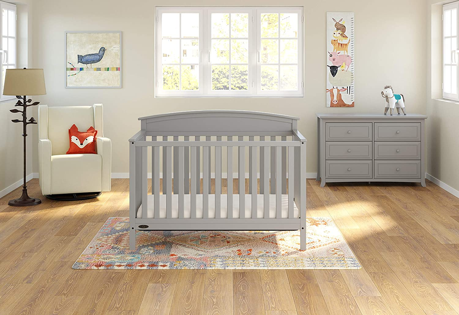 Easily Converts to Toddler Bed, Daybed or Full-Size Bed with Headboard