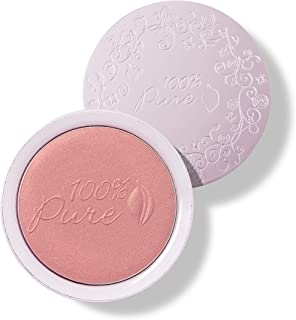 product image for 100% PURE Powder Blush (Fruit Pigmented), Mimosa, Soft Shimmery Finish, Nourishes Skin w/Rosehip Oil, Cocoa Butter, Natural Makeup (Light Coral) - 1.81 oz