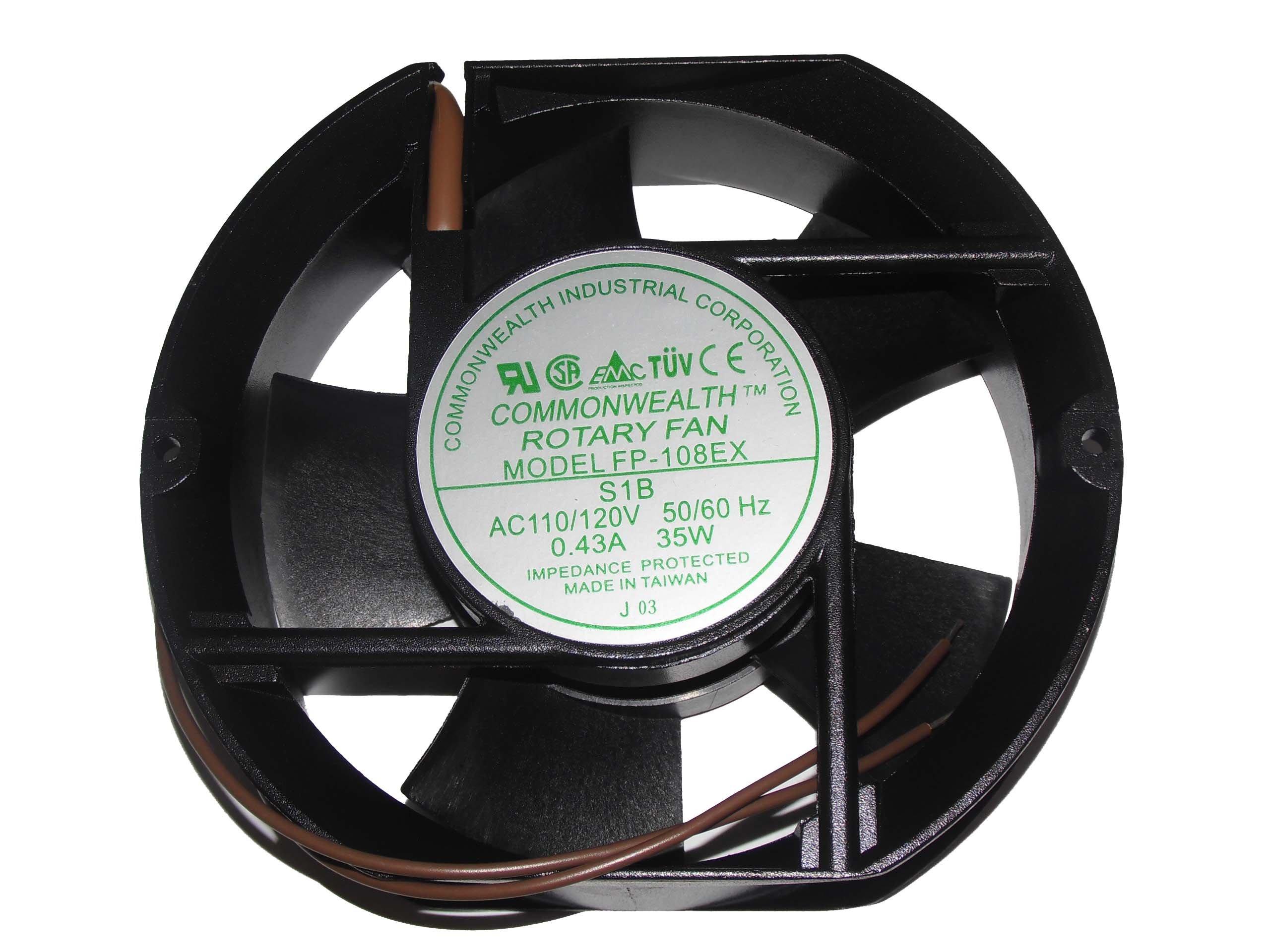 FP-108EX-S1-B 110V 50/60Hz 0.5A 38W AC Fan,FP-108EX S1B Cabinet