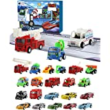 Purple Ladybug Car Advent Calendar 2020 - Toy Cars 2020 Advent Calendar for Kids, with 24 Different Pull Back Vehicles Includ