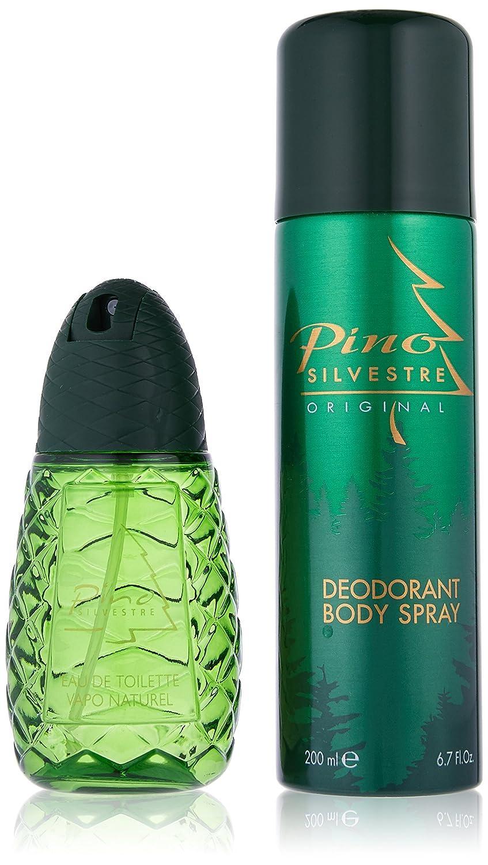 Pino Silvestre Original Cofanetto Regalo per uomo, profumo 125ml + Deodorante spray 200ml PI418M