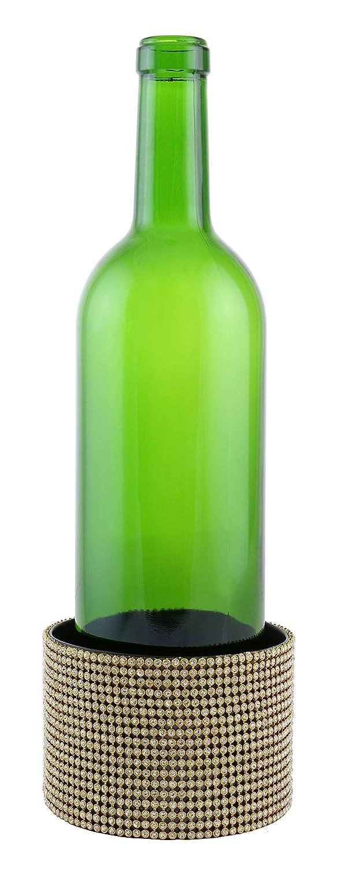 ワインボディyc3100エレガントサーフェスプロテクターメタル装飾ワインボトルコースター、オレンジ   B071J3GKPW