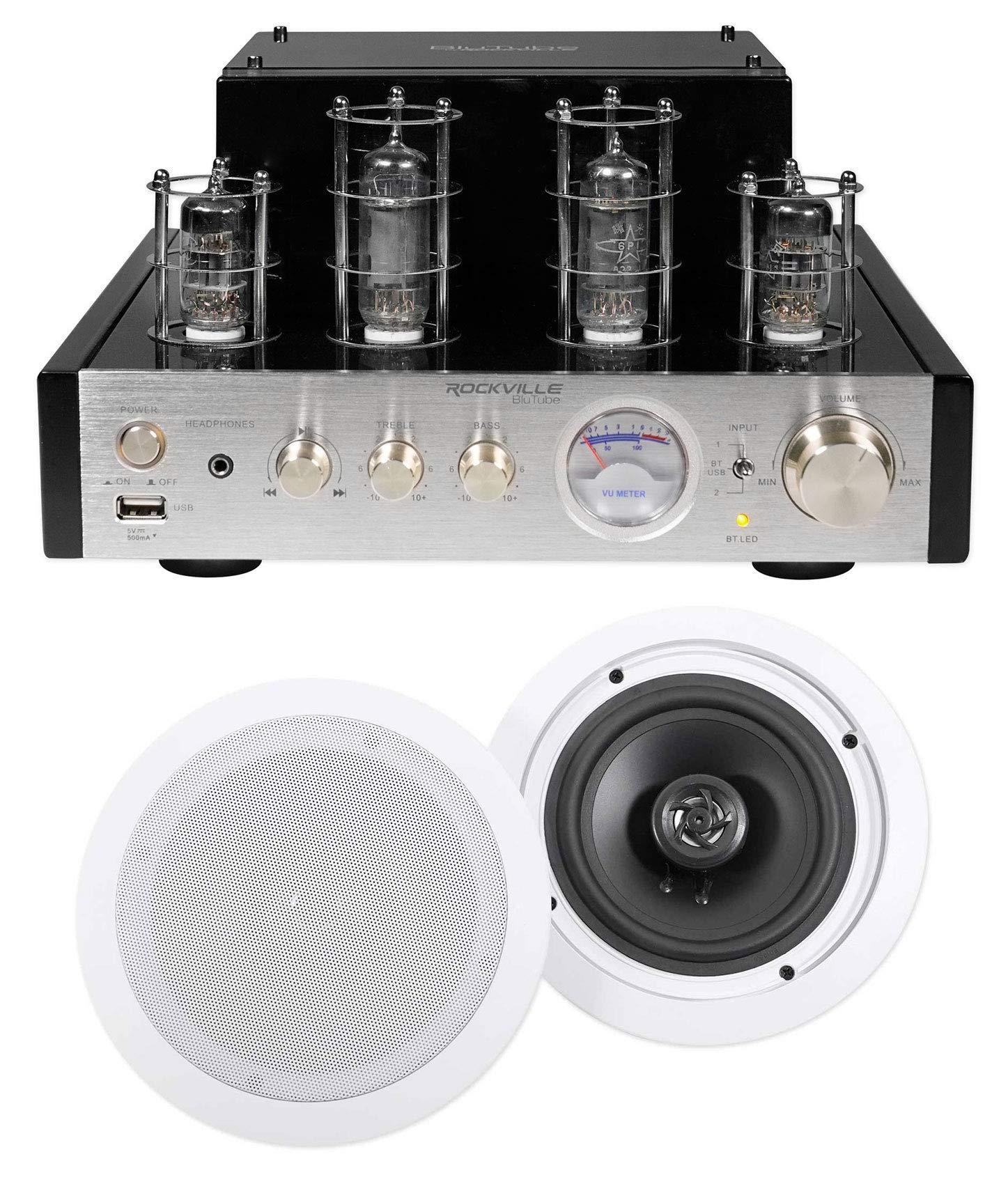 Rockville BluTube Tube Amplifier/Home Theater Receiver+(2) 6.5'' Ceiling Speakers