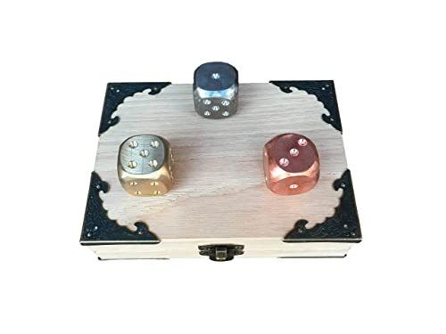 Amazon Com Wooden Anniversary Gift 5th Anniversary Wooden Gift 5 Year Anniversary Wooden Anniversary Engraved Wooden Gift Day We Met Gift Dice Set Handmade