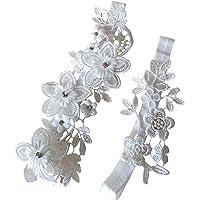 Wedding Garter Crystal Decor Flowers Lace Garter for Brides P59