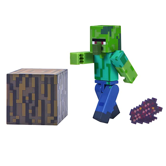 Minecraft 16489 - Figura de acción de 7,62 cm - Zombie Villiager Pack: Amazon.es: Juguetes y juegos