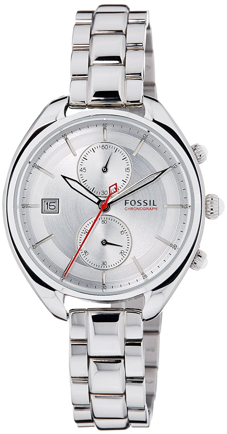 Fossil Women s CH2975 Land Racer Stainless Steel Watch with Link Bracelet