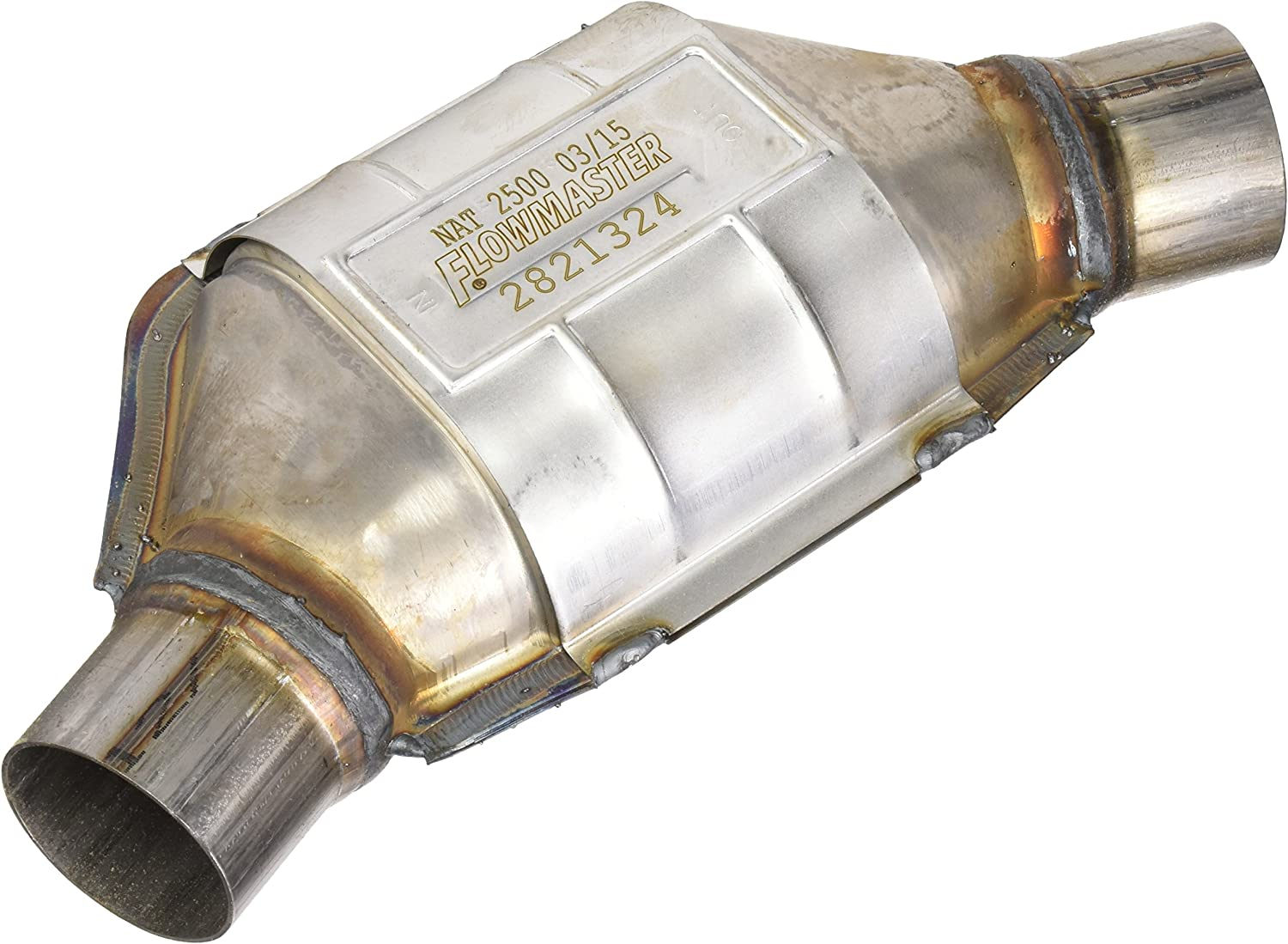 """Flowmaster 2820224 UNIVERSAL 282 Series Catalytic Converter 2.25/"""" IN//2.25/"""" OUT"""