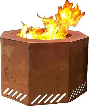 Titan Corten Steel Near Smokeless Wood Burning Backyard Fire Pit 16 in x 24 in