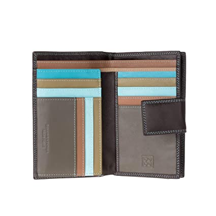 DUDU Large Womens Wallet Purse in Genuine Leather Multi compartment with Zip  Coin and Credit card 70c04ee6da