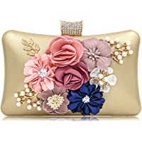 PARADOX (LABEL) Women Flower Clutches Evening Handbags Wedding Clutch Purse