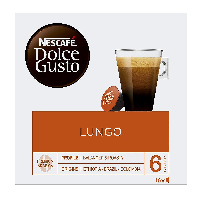 Nescafé Dolce Gusto - Lungo - Cápsulas de café - 16 cápsulas: Amazon.es: Alimentación y bebidas