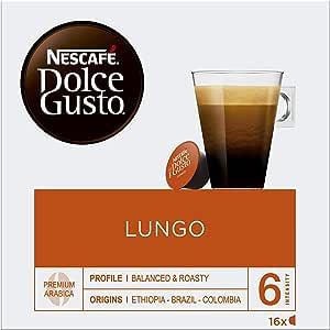 NESCAFÉ Dolce Gusto Lungo | Cápsulas de café - 16 cápsulas de café ...