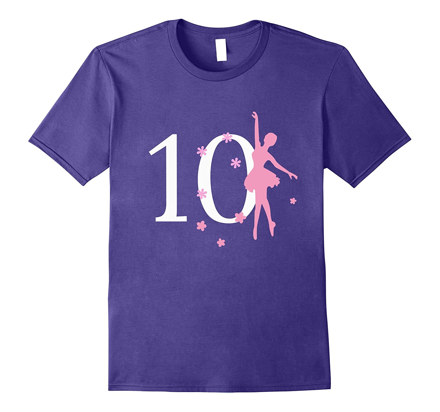 10 Birthday Ballerina Birthday T-shirt-CD