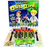 DIY Slime Lab Slime Kit | Make Your Own Slime With 6 Colours, 3 Glitter Shakers Colourful Balls, Glow In The Dark Slime Non Toxic Slime