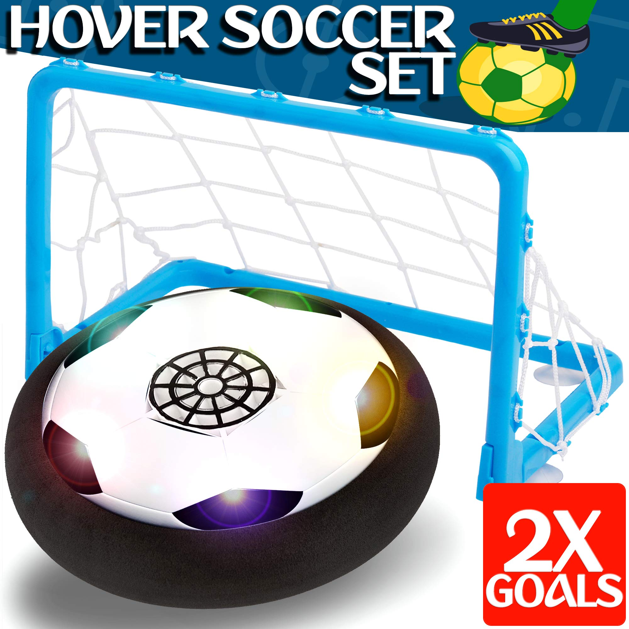 Kids Toys - Hover Soccer Ball Set with 2 Goal, Toy for Boys / Girls Age of 2, 3, 4 -16 Year Old, Top Indoor / Outdoor Children Sports Games Gifts by BOY-S-YEAR