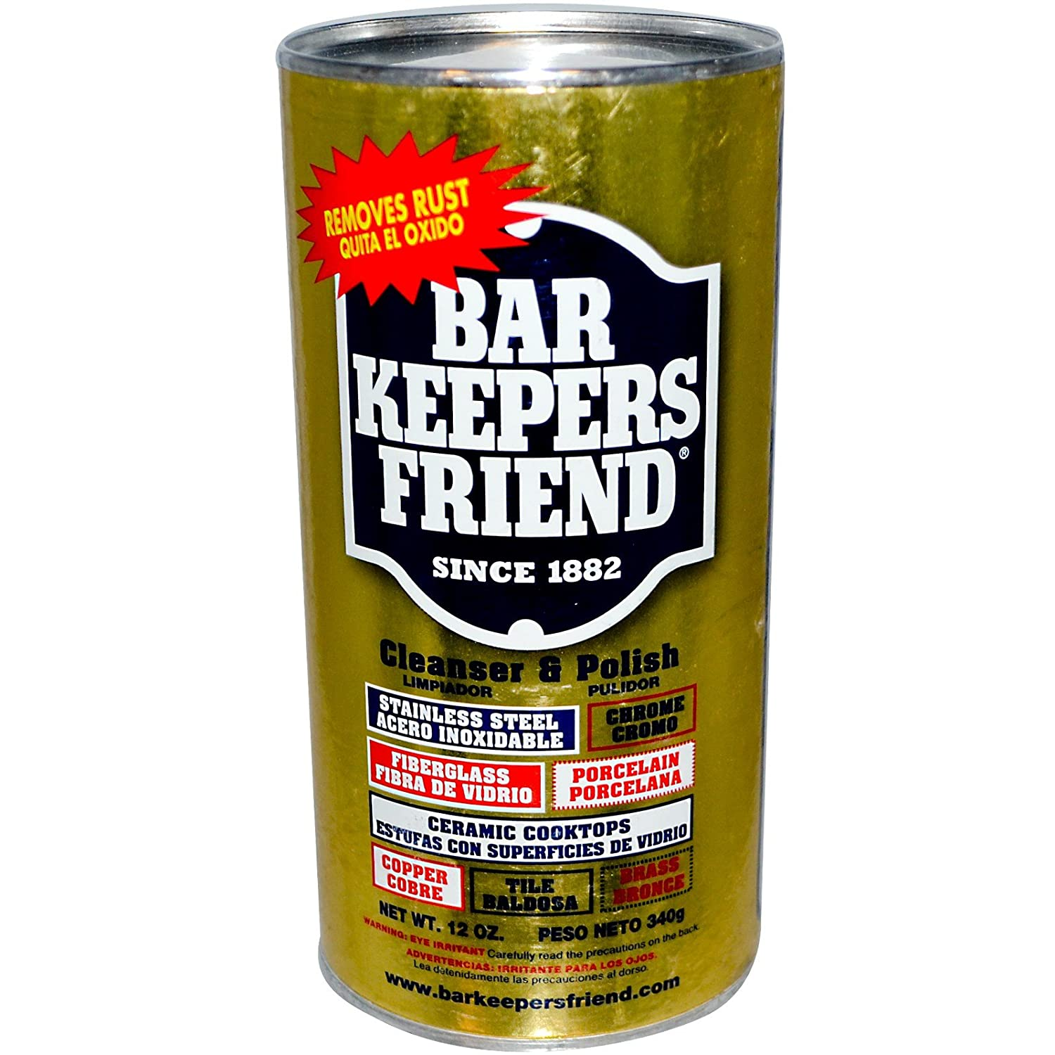 Amazon.com: Bar Keepers Friend, Cleanser & Polish, 12 oz (340 g) - 3PC: Home & Kitchen