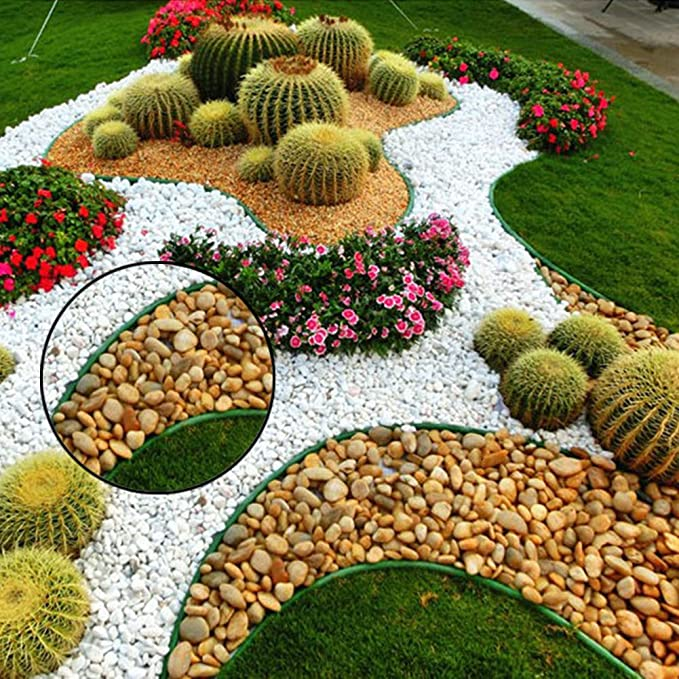aneil suelo separador separador valla para diferentes plantas y flores jardín gestión 16.4 ft: Amazon.es: Jardín