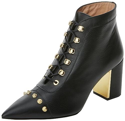 Hannibal Laguna Edna, Botines Mujer, Negro (Velvet Negro), 37 EU: Amazon.es: Zapatos y complementos