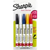 Sharpie Oil-Based Paint Markers, Fine Point, Assorted Colors, 5 Count - Great for Rock Painting