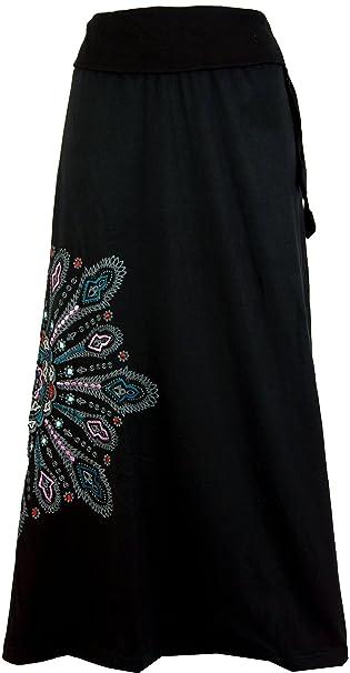59a0c0922281 Guru-Shop, Maxi Gonna, Gonna Lunga Mandala, Boho, Dicotone, Gonne Lunghe:  Amazon.it: Abbigliamento