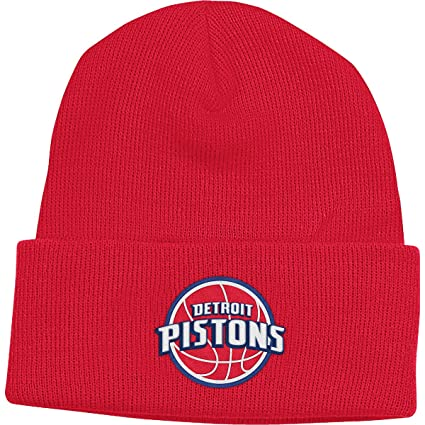 fa85641030e3aa Image Unavailable. Image not available for. Color: NBA adidas Detroit  Pistons Basic Cuff Knit Hat