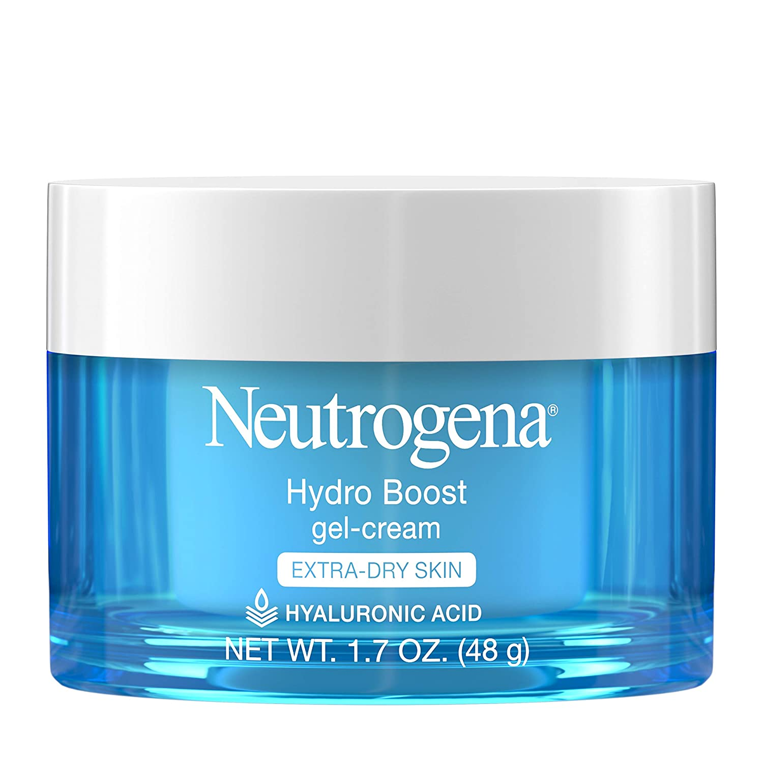 Neutrogena Hydro Boost Hyaluronic Acid Hydrating Gel-Cream Face Moisturizer to Hydrate & Smooth Extra-Dry Skin, Oil-Free, Fragrance-Free, Non-Comedogenic & Dye-Free Face Lotion, 1.7 oz: Beauty