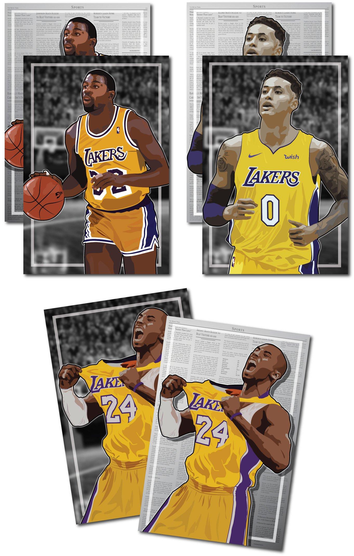 new concept 35746 1b704 Galleon - 3 Posters Of LA Lakers - Magic Johnson, Kobe ...