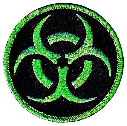 Amazon Biohazard Symbol Embroidered Patch Iron On Danger Symbol