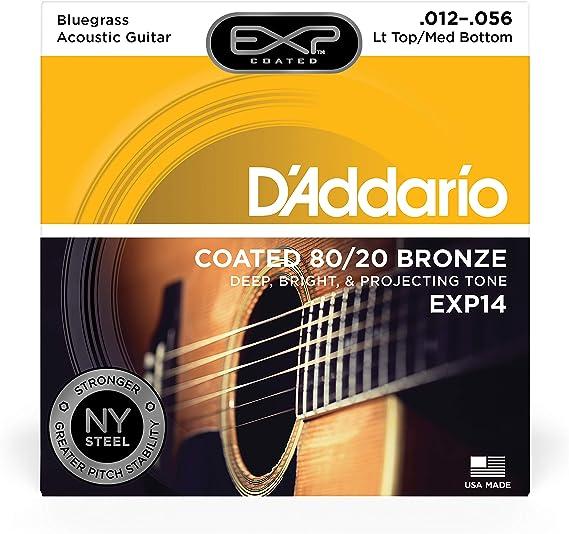 DAddario EXP14, cuerdas recubiertas para guitarra acústica ...