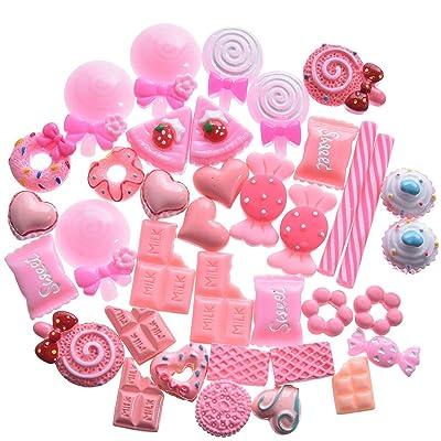 40 Pièces Slime Charmes Bonbons Slime Perles Ornements de Bonbons pour Slime Decor Accessoires
