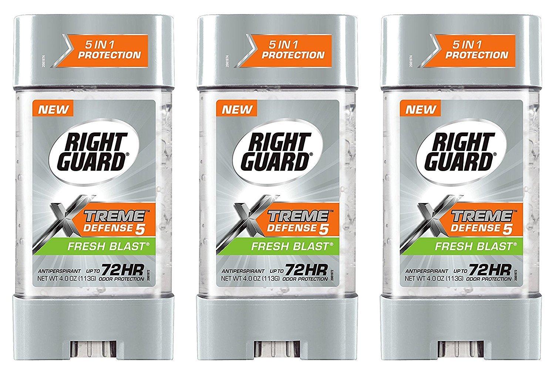 Right Guard Total Defense Anti-Perspirant Deodorant Power Gel Fresh Blast 4 oz (Pack of 3)