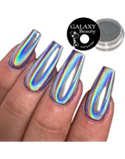 Galaxy Beauty - Polvo holográfico para uñas de arcoíris, 1 g, con efecto láser