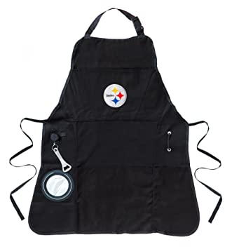Team Sports America Ultimate NFL Tailgate Grilling Apron, Pittsburgh  Steelers