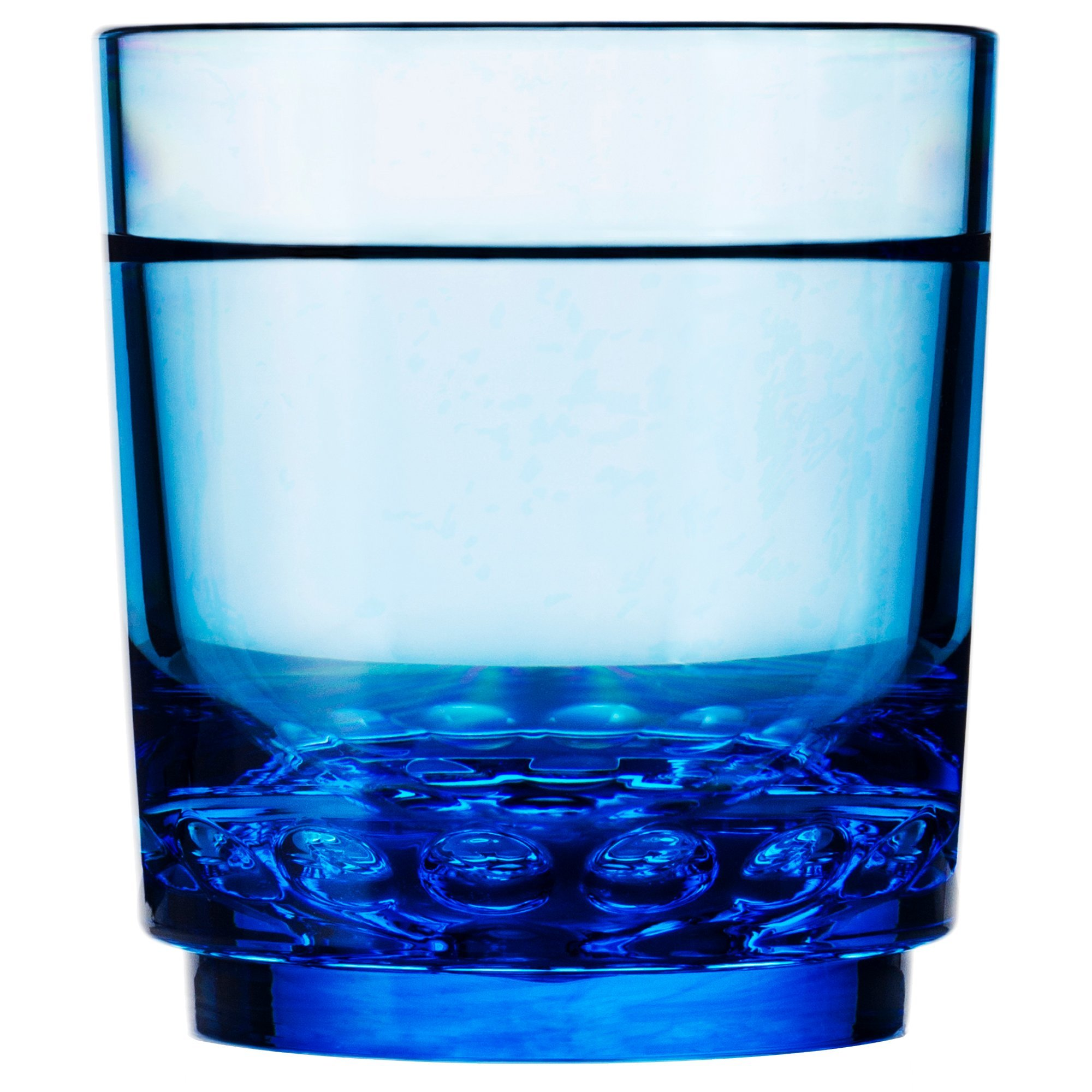 Drinique ELT-SR-BLU-4 Elite Shooter Unbreakable Tritan Drinking Glasses, 7 oz (Set of 4), Blue